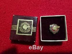 Vintage Pontiac Master Salesman 10k Award In Original Box