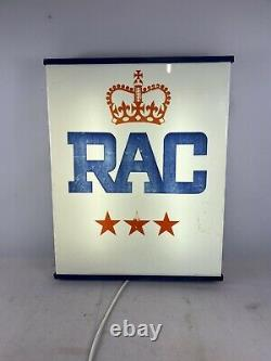Vintage RAC Light box Sign Retro Illuminated Light Up Garage Man cave Sign