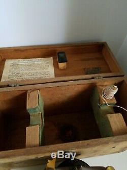 Vintage Surveyors Berger Transit level Model 200 2M4884 In Original Wooden Box