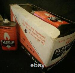 Vintage Tin Collection in Retail Box Flexolite Lighter Fluid Stoke on Trent