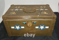 Vintage WW2 Lock Box from B-25H Mitchell Bomber Plane Dog Daize in Museum