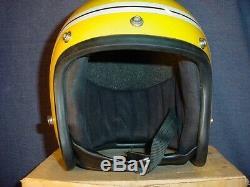 Vintage Yamaha Racing Team Randy Mamola Motorcycle Helmet 1970s + Original Box