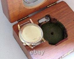 Vtg Railroad Train Driver Watch BULOVA Accutron Original Box with Magnifier 176r