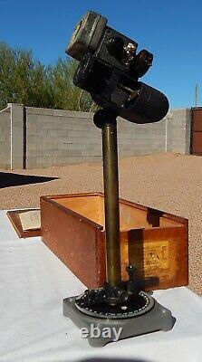 WW2 USN USMC SBD Dauntless Crewman's Drift Sight In Original Box with Papers
