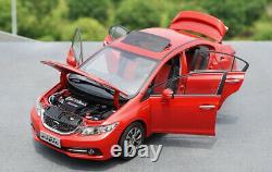 1/18 Honda CIVIC Si 9 Diecast Modèle De Voiture En Métal Jouets Garçon Fille Collection Cadeau Rouge