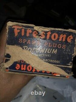 10 Bougies D'allumage Originales Vintage Firestone Dans La Boîte En Carton Originale
