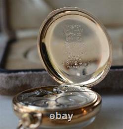 1915 Waltham Transitional Ladies 6/0 Watch Gf Case Original Box Garantie