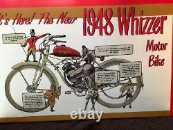 1948 Schwinn Whizzed Motor Bike Modèle En Métal Dans La Boîte Originale 16 Scsle