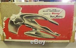 1950 Nash George Petty Volant Déesse Ornement De Capot Dans La Boîte Originale