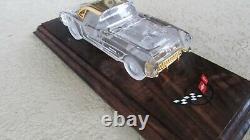 1957 Chevy Corvette Voiture En Cristal Franklin Mint 24k Or Garniture Boîtes Originales Coa