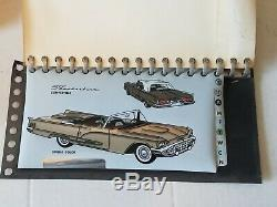 1960 Ford Vendeur Concessionnaire Album Showroom Couleur & Rembourrage Originale W Box