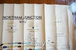 1970 Northam Junct Original Signalling Signal Box Sidings Railway Plan Diagram (en Français)