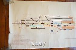 1981 Chichester Original Signalling Signal Box Sidings Railway Plan Diagram (en Anglais Seulement)