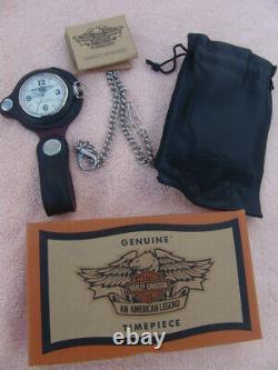 1998 Harley Davidson 95e Anniversaire Fob Watch 97853-98v Original Box Nos New
