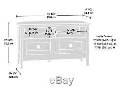 40 Sauder Coin Tv Stand Cabinet Entertainment Center Living Room Oak
