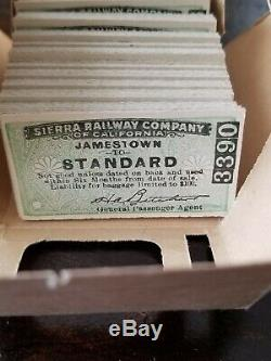 90 Originaux Inutilisés Californie 1921 Billets Railway Company Sierra Inoriginal Box