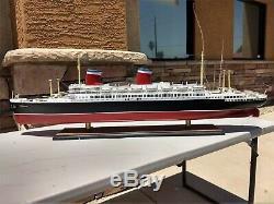 Amérique Ss Paquebot Ship Model 34 Original Box- Livraison Gratuite