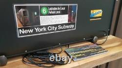 Années 1980 Nyc Subway Light Box New York City Lighted Sign Original