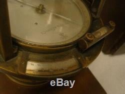 Antique Brass Rare K & E Keuffel Esser Co. De New York Transit Survey Box Originale