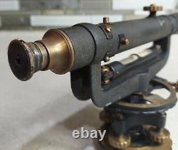 Antique David White Instrument Co Surveyors Niveau De Transit, Boîte Originale, Vintage