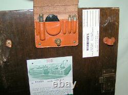Antique K & E Keuffel & Esser Sight Niveau Survey Transit & Original Bois Box