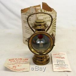 Antique Neverout Laiton Jeweled Vélo De Sécurité Lampe Avec Original Box Et Manuel