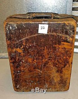 Antique Vintage C. L. Berger & Sons Transit Astronomique Et Originale Boîte En Bois