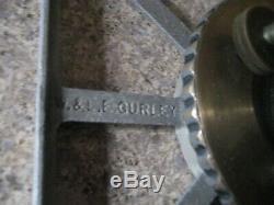 Antique W. & L. E. Gurley Ny Arpenteurs Transit W Original Compsition Box Voyage