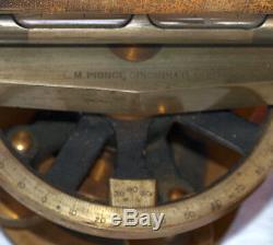 Antique Wm H Brass Pfister 13 Télescopique Niveau Transit Orig Box Cincinnati Ohio