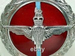 Badge De Voiture Vintage J. R. Gaunt Parachute Regiment Des Années 1950 Avec Boîte De Présentation Originale