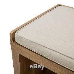 Banc De Rangement 3-cube Weathered Organisateur Vestibule Bois Meubles Rembourrés