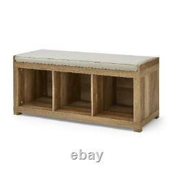 Banc De Rangement 3-cube Weathered Organisateur Vestibule Meubles En Bois Rembourré Nouveau