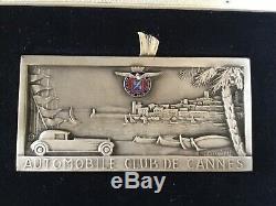 Belle Automobile Club De Cannes Rallye Plaque -original Box Drago Fraisse Demey