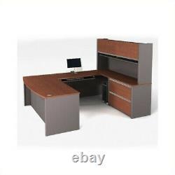 Bestar Connexion U-shape Home Office Set Avec 1 Piédestal Surdimensionné À Bordeau