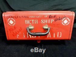 Bethléem Navire Cour Rouge Beth Ship Premiers Soins Outil Carton No 18 X 9 X 8