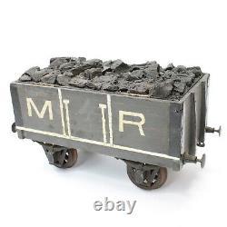 Boîte À Cigares De Table Midland Railway Train Tendre Égratignure Antique Construite À La Main Faite