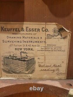 Boîte Originale De L'enquête Keuffel & Esser Transit