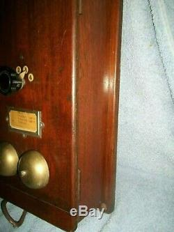 Boîte Vintage Signalisation Ferroviaire Gwr D'origine Téléphone Bakélite Combiné