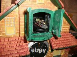 Bradford Exchange Golden Spike Action / Sons Cuckoo Clock Mint Dans La Boîte Originale