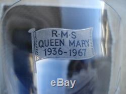 C1967 Cunard R. M. S. Queen Mary Stuart Ltd Edition Cristal Verre À Vin Et Boîte D'origine
