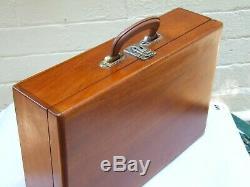 Case Antique Australian Cedar Carry Box Valise Poitrine Case Voyage Avec Poignée 20 De