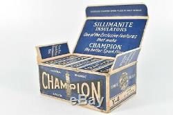 Champion Vintage Y-4 Spark Plug In Affichage Original Magasin Boîte De 10 Garage Cave