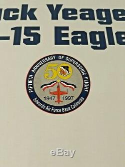 Chuck Yeager Signe F-15 Eagle Danbury Mint Nouveau Dans Signe Avec Cert
