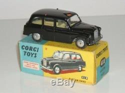 Corgi 418 London Taxi Austin Complet Avec Boîte D'origine Moyeux Flat Bon Exemple