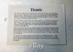 Danbury Monnaie Le Titanic Navire Réplique Jamais Toujours Affichée Dans La Boîte Originale