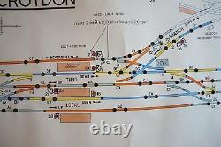 Diagramme Original De Plan De Chemin De Fer De Voie D'évitement De Boîte De Signalisation De Croydon Du Sud
