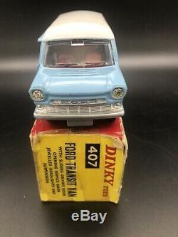 Dinky 407 Kenwood Ford Transit Van Near Mint Dans La Boîte Originale