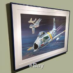 F86-f Sabre Jet Huff Modèle Original Box Art Studio Peinture Impressionnant