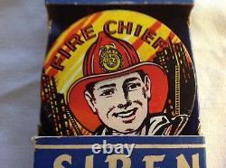 Fire Chief Bicycle Siren, Produits En Acier Ranger, Nouveau Dans La Boîte D'origine