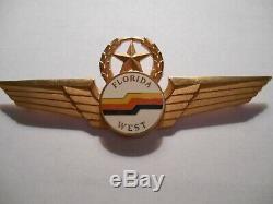 Florida West Airlines Pilote Étoile Couronne Capitaine Prototype Wing, Nouveau Dans La Boîte